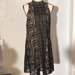 Black Lace Women's Cocktail Dress